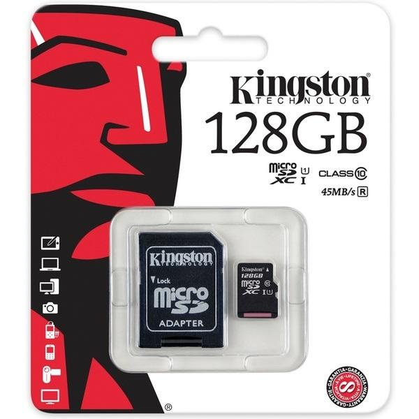 Card MicroSd Kingston - 128GB, clasa 10